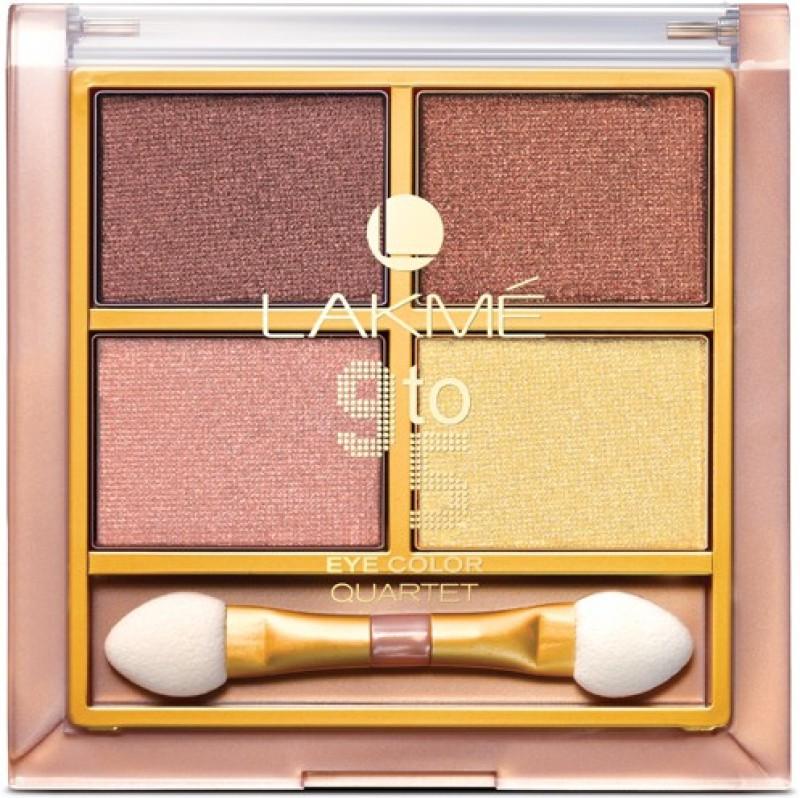 Lakme 9 to 5 Eye Color Quartet Eye Shadow 7 g(Desert Rose)
