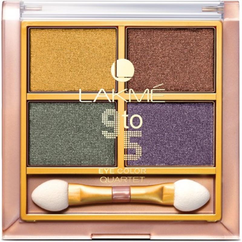 Lakme 9 to 5 Eye Color Quartet Eye Shadow 7 g(Tanjore Rush)