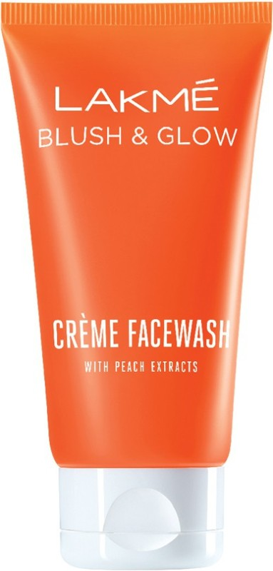 Lakme Blush and Glow Peach Extracts Creme Face Wash(100 g)