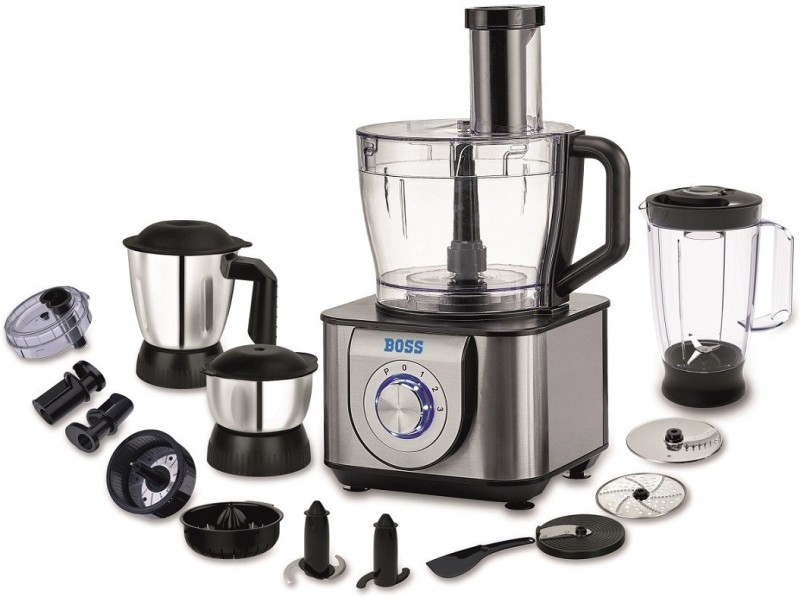 Boss B704 1000 W Food Processor(Silver Black)