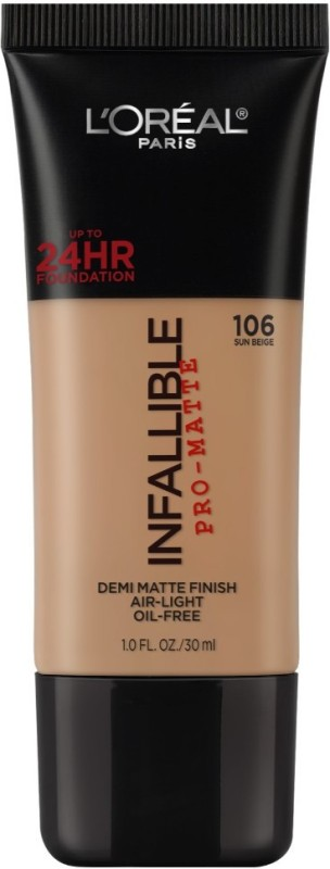 LOreal Infallible Pro Matte Foundation(Sun Beige 106, 30 ml)
