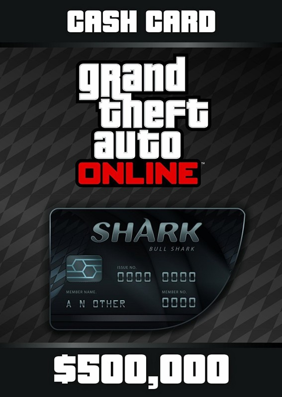 Bull Shark Cash CArd Rockstar Global 500,000 USD for PC