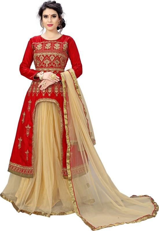 Rudra Fashion A-line Gown(Multicolor)