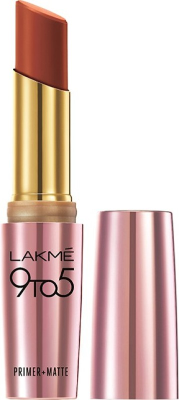 Lakme 9 to 5 Primer Plus Matte Lip Color(3.6 g, Red Rust)