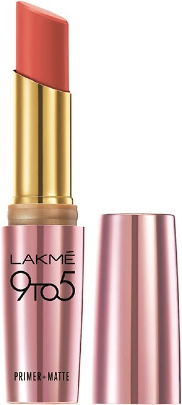 Lakme 9 to 5 Primer Plus Matte Lip Color(3.6 g, Coral Date)