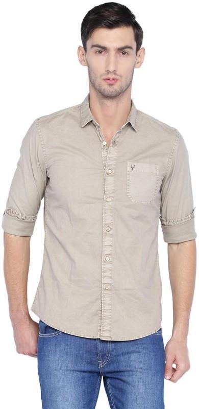 Allen Solly Men Solid Casual Spread Shirt