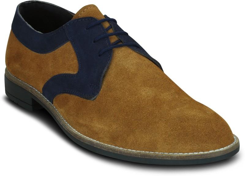 Kielz Kielz-Tan-Mens-Lace-Ups-Sneakers Sneakers For Men(Tan)