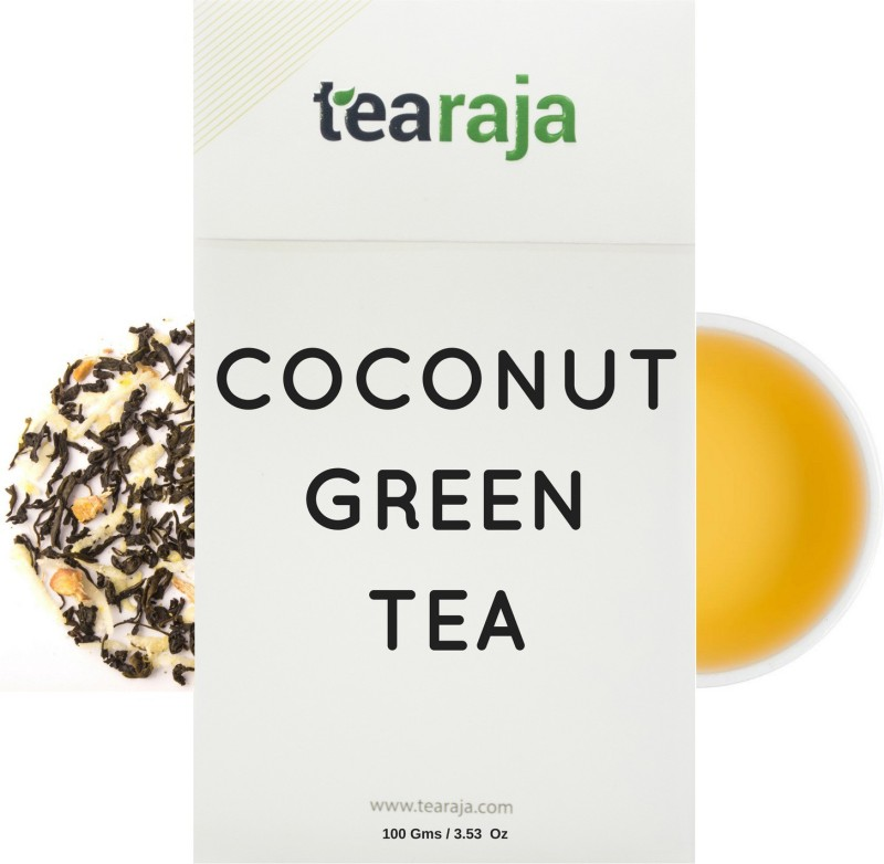 Tearaja Coconut Green Tea Coconut Herbal Tea(100 g, Vacuum Pack)