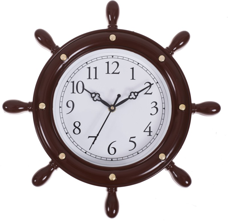 Smile2u Retailers Analog Wall Clock(Color- Cola, With Glass)