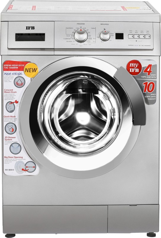 IFB 7 kg Fully Automatic Front Load Washing Machine Silver(Serena Aqua Sx LDT)