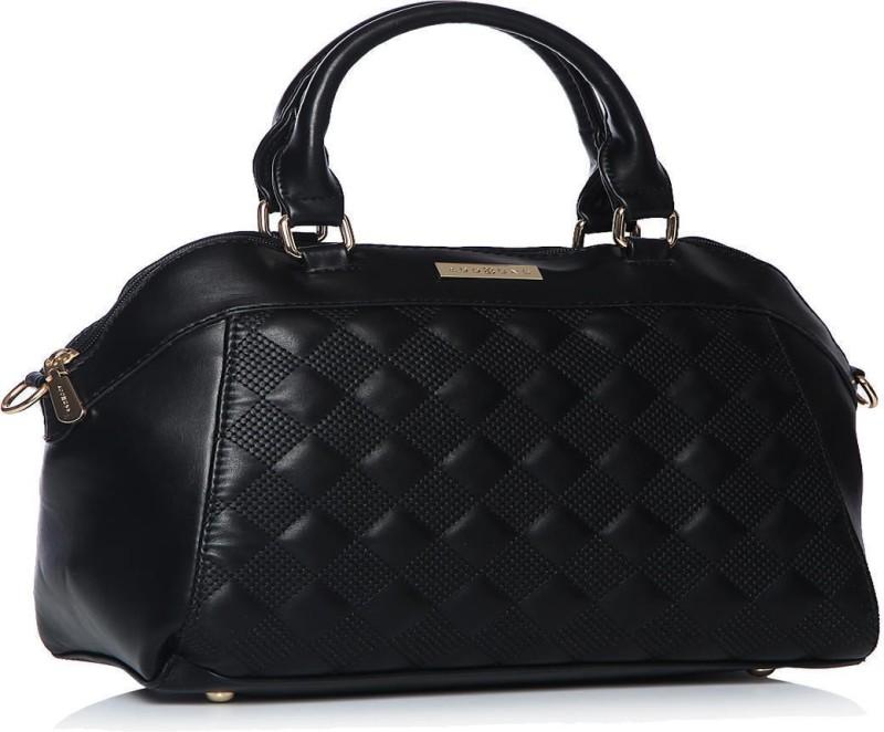 Addons Quilt and stitch detailed Duffle bag Shoulder Bag(Black, 5 L)