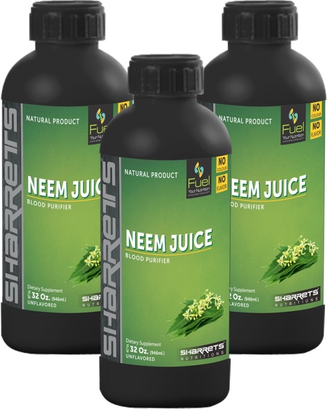 Sharrets Nutritions Neem Leaf Juice : PACK OF 3 2838 ml(Pack of 3)