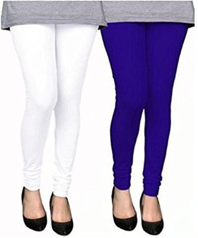 Elegant Shopping Churidar  Legging(Blue, White, Solid)