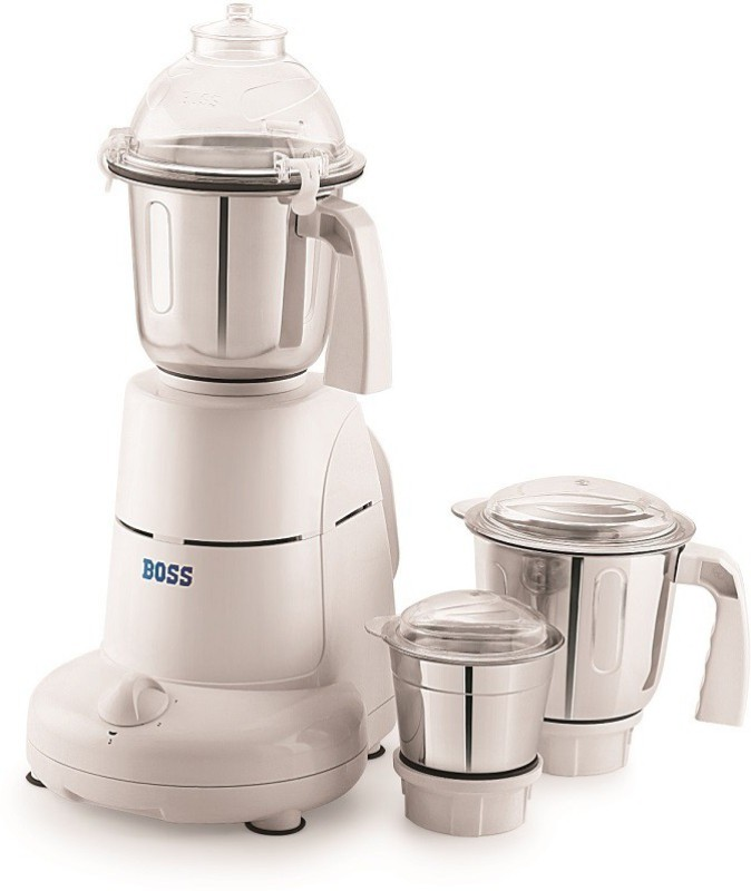 Boss Excel 750 Mixer Grinder(White, 3 Jars)