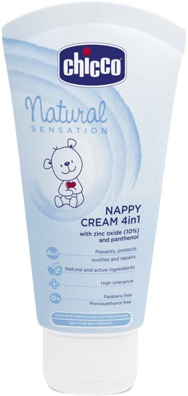 Chicco 4 in1 Natural Sensation Nappy Cream (Blue, 100ml)(100 ml)