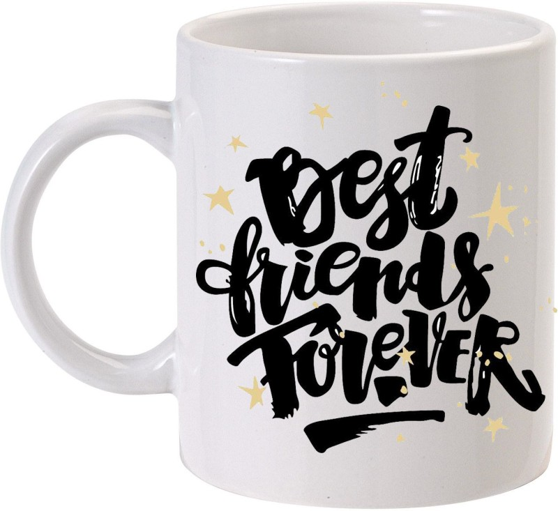 MUGkin Best Friend Forever Ceramic Mug(320 ml)