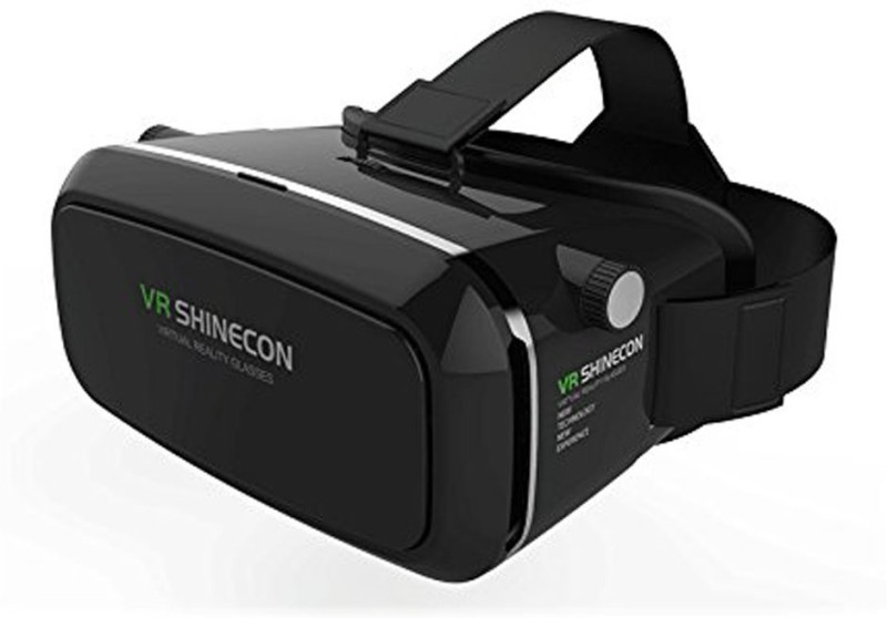 JMO27Deals Smart VR SHINECON Virtual Reality Headset 3D VR Glasses for Android & Apple Smartphones within 6 Inch, ideal for 3d Videos Movies Games(Smart Glasses)
