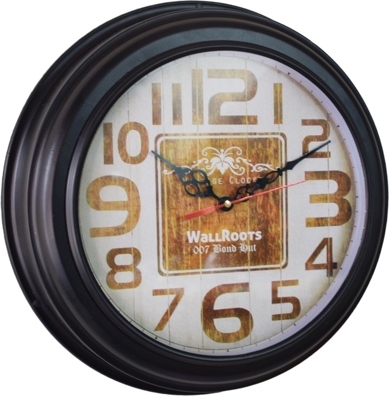 007 Bond Hut Analog Wall Clock(Wooden, With Glass)
