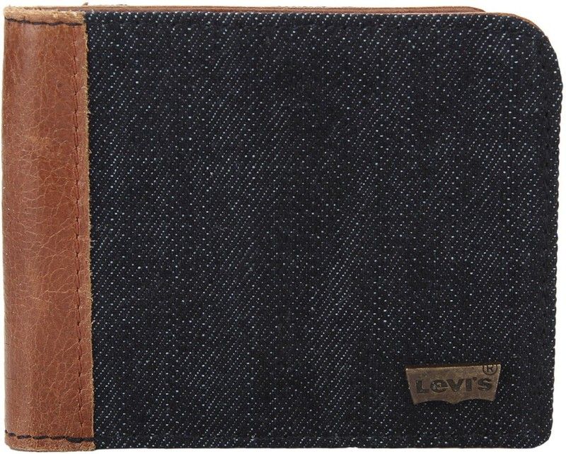 Levis Men Blue Genuine Leather Wallet(8 Card Slots)