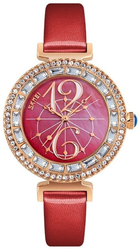 Skmei 9158 Red DUSK Watch - For Women