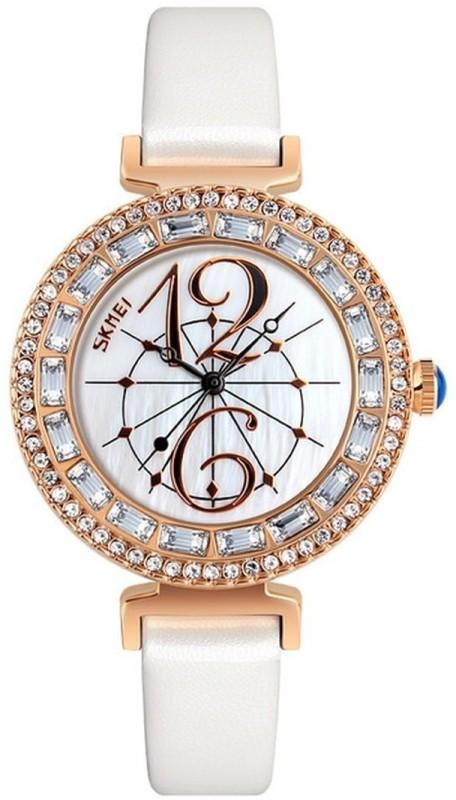Skmei 9158 White DUSK Watch - For Women