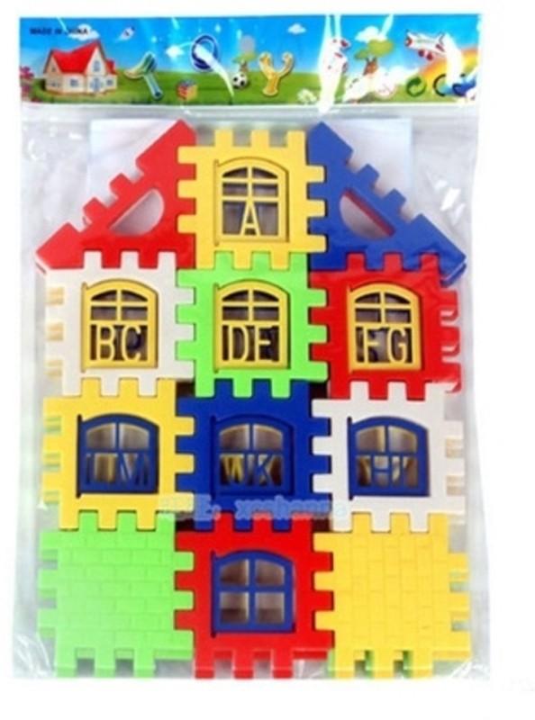 AGE CARE 4Pcs / Set New House Model Building Blocks Kids Learning Letters Toy Bricks Kids Blocks Toys(Multicolor)