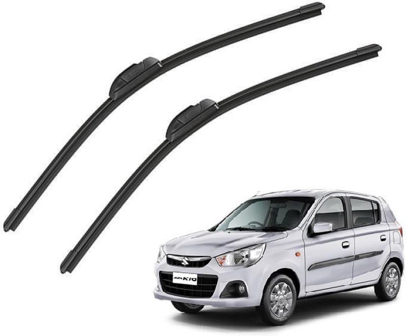 Mockhe Windshield Wiper For Maruti Suzuki Alto K10(Driver Side Wiper, Passenger Side Wiper Pack of 2)