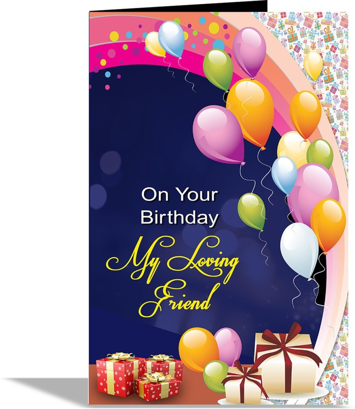 alwaysgift On Your Birthday Greeting Card Greeting Card(Multicolor, Pack of 1)