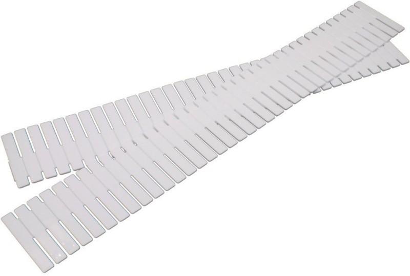 Insasta Adjustable & Interlocking Plastic Closet Drawer Dividers Organizers Drawer Divider(Plastic)