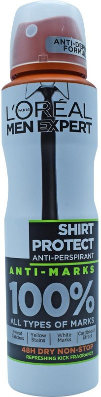 LOreal Paris Men Expert Shirt Protect Anti-Perspirant - 150ml Deodorant Spray - For Men(150 ml)