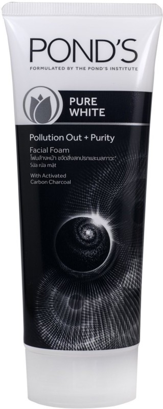 Ponds Pure White Pollution Out + Purity with Activated Charcoal, 50g Face Wash(50 g)
