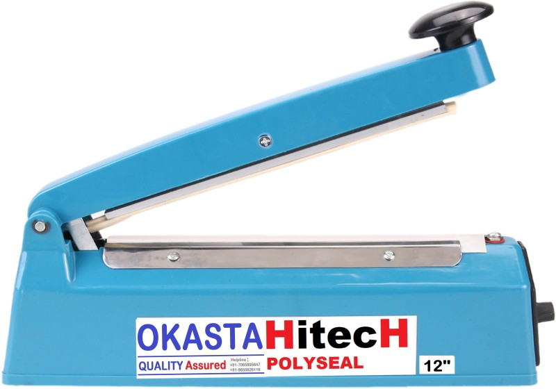OKASTA 12 Inch 240MM High Quality Hand Sealing Machine For Plastic Packaging Super Fast/Seal Hand Held Table Top Heat Sealer(240 mm)