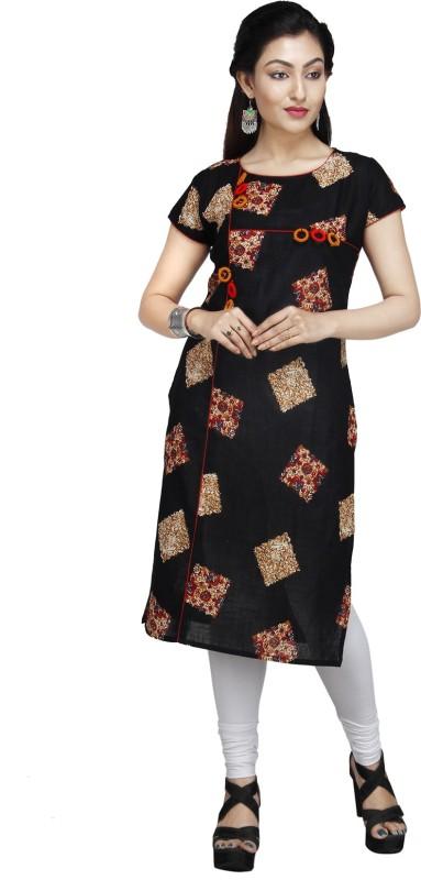 JAI BHOLENATH FASHIONS Festive & Party Embroidered Women Kurti(Black)