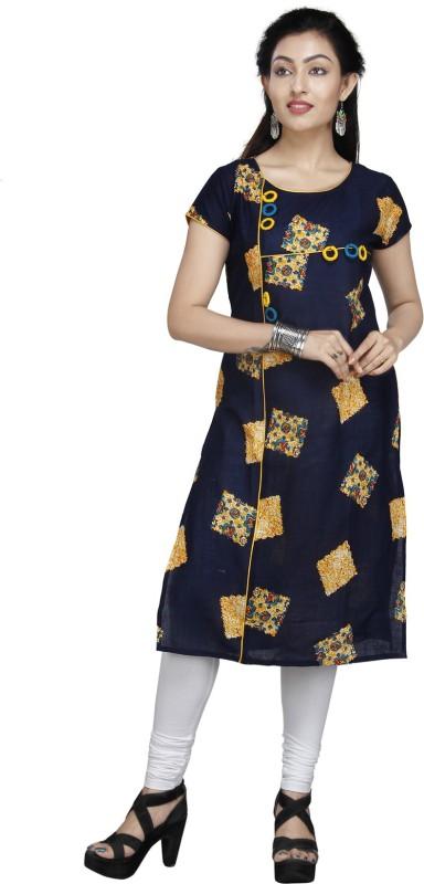JAI BHOLENATH FASHIONS Festive & Party Embroidered Women Kurti(Blue)
