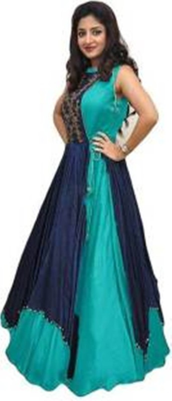 Taani fashion A-line Gown(Light Blue)