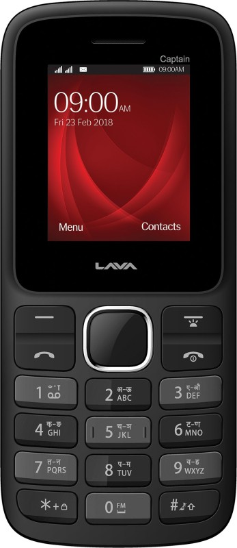 Lava Captain K2(Black & Red) image