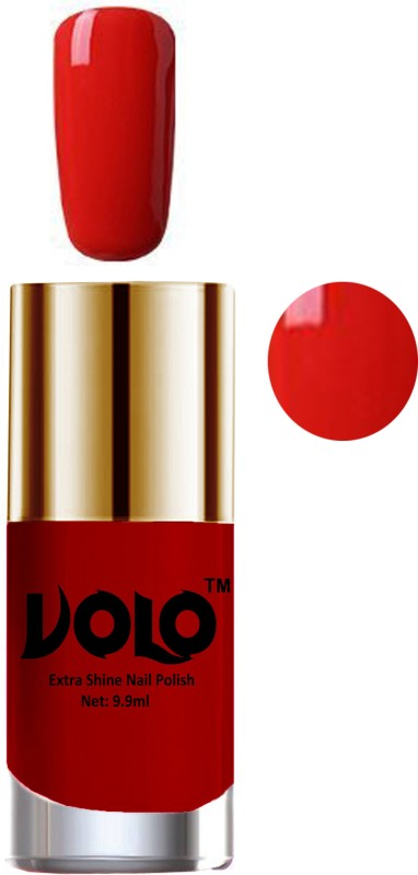 Volo Professional Infinite Nail Polish Collection With Ultra Smooth Flat Brush Reddish Orange