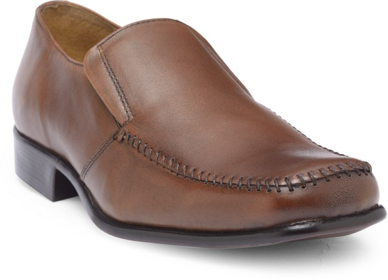 Hats Off Accessories Genuine Leather Tan Formal Shoes For Men(Tan)