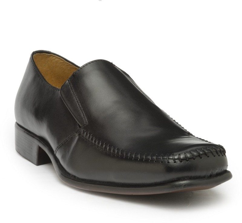 Hats Off Accessories Genuine Leather Black Formal Shoes For Men(Black)