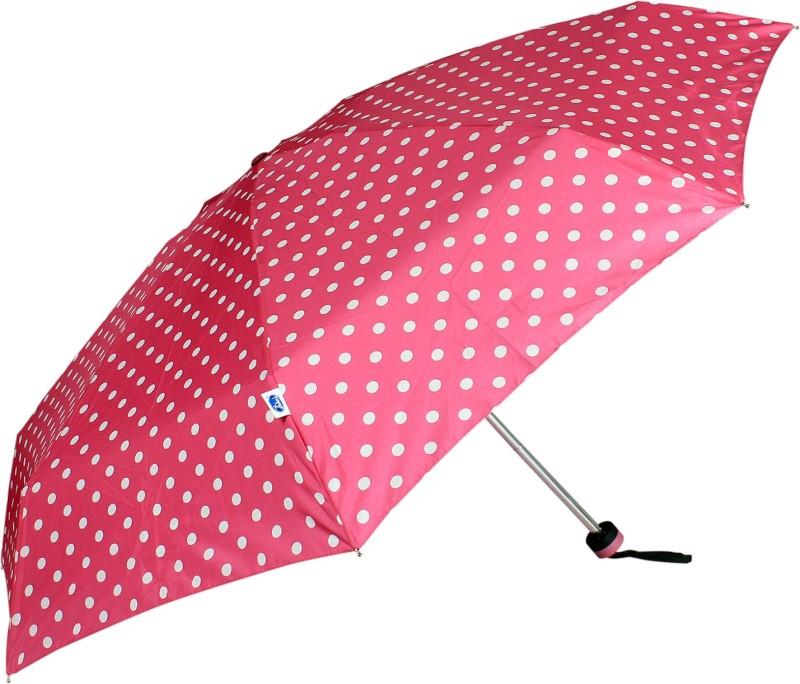 Johns 585 mm Pink Polka Design Ladies Umbrella Umbrella(Pink)