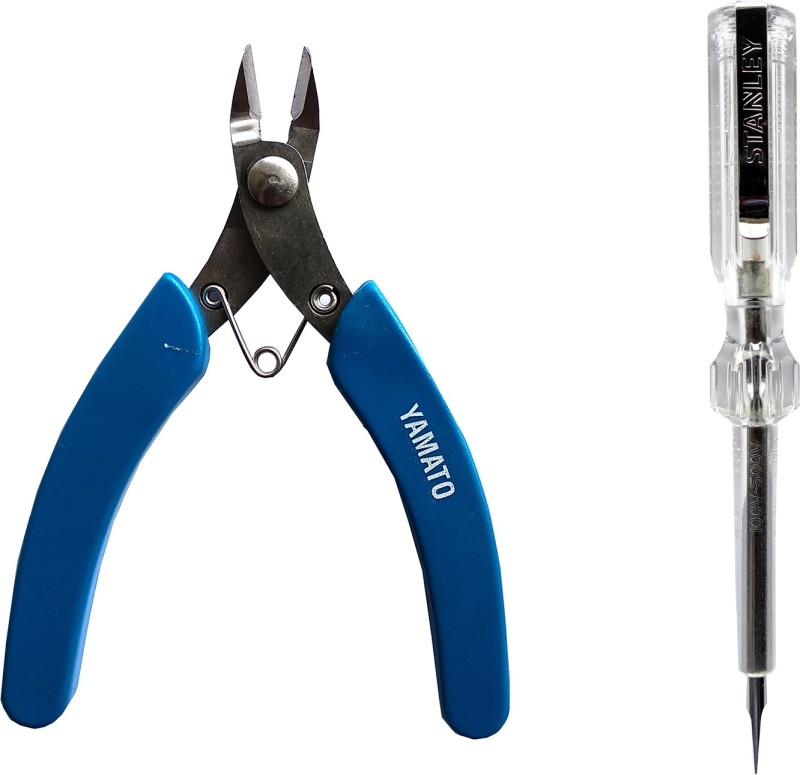 Yamato stainless steel nipper and white tester analog pack of 2 Analog Voltage Tester