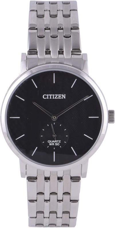 Citizen BE9170-56E CITIZEN QUARTZ DRESS WATCH WITH BLACK DIAL AND SS BRACELET Men's Watch image