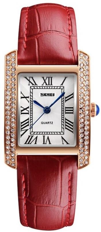 Skmei 1281 Red Gold Stylish Dusk Watch - For Women