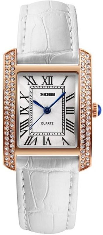 Skmei 1281 White Gold Stylish Dusk Watch - For Women