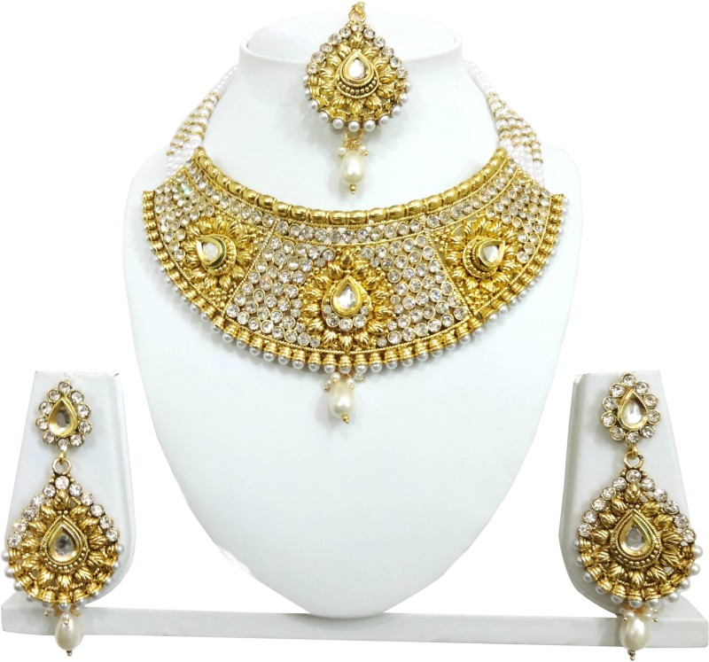 Chetan Arts Jewellery Alloy Jewel Set(Gold)