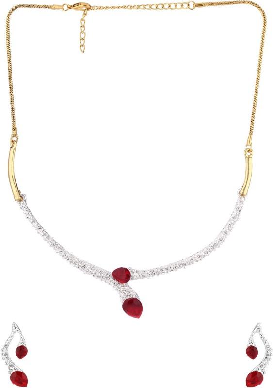 Voylla Alloy Jewel Set(Gold)