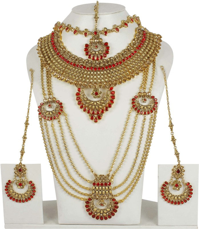 Muchmore Brass Jewel Set(Multicolor)
