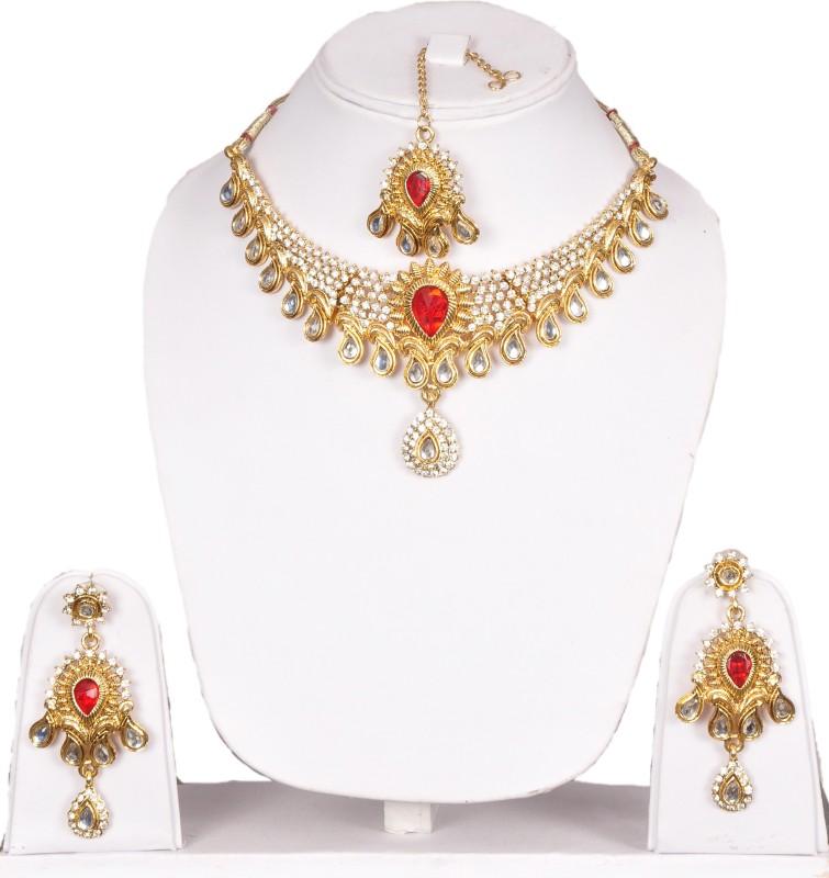 Shadi Bazaar Alloy Jewel Set(Gold)