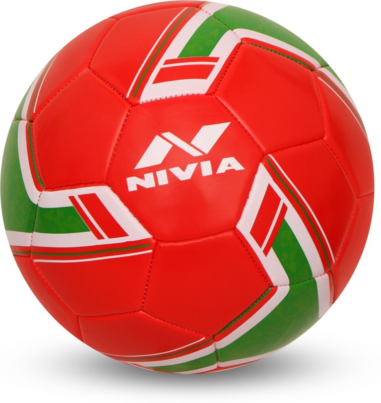 Nivia SPINNER MACHINE STITCHED FOOTBALL (PORTUGAL) Football - Size: 5(Pack of 1, Multicolor)
