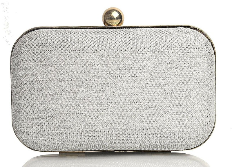 Tooba Handicraft Party Silver  Clutch